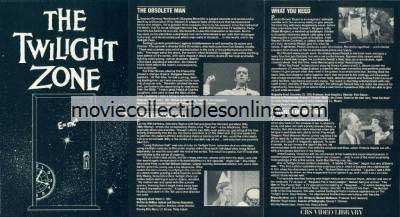Twilight Zone Beta - Obsolete Man, Long Distance Call, What You Need, World of His Own